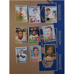 9 card Base ball Vintage lot