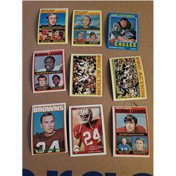 9 Card football card lot