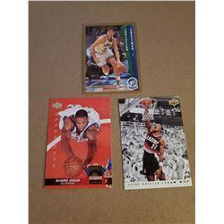 3 card Basketball Lot