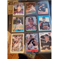 9 Card Nolan Ryan Lot