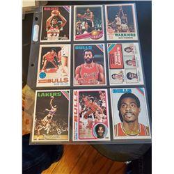 9 Card Vintage Basketball Lot