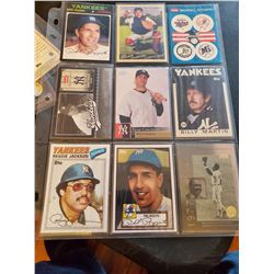 9 Card Yakees Lot