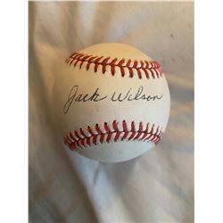 Jack WIllson SIghned base ball