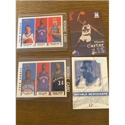 lot of 4 basket ball cards