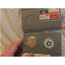 1974 Bicentennial coin