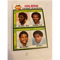 1978 Oilers Team Leaders