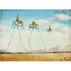 Salvador Dali Spanish Surrealist Oil on Canvas