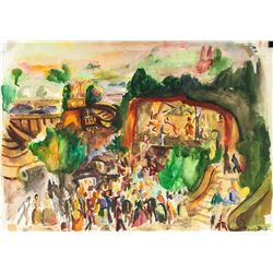 Raoul Dufy French Modernist Watercolor on Paper