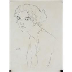 Gustav Klimt Austrian Art Nouveau Pencil on Paper