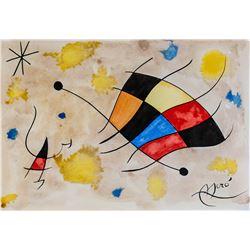 Joan Miro Spanish Surrealist Ink & Watercolor