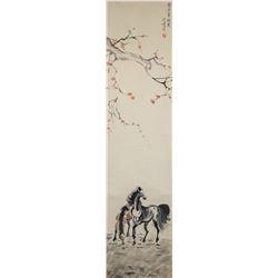 Xu Beihong 1895-1953 Chinese Watercolor Horses