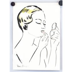 Kees Van Dougen Dutch-French Ink Watercolor Paper