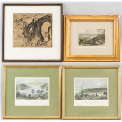 4 Engravings Wallis, Brandard, Radclyffe, Brangwyn