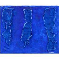 Yves Klein French Modernist Mixed Media on Canvas