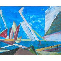 Lyonel Feininger American-German Oil/Canvas 1959