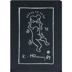 Keith Haring American White Marker Dated '89 LOA