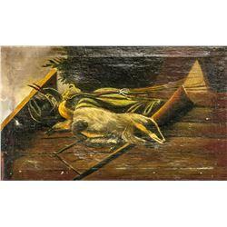 European Oil on Canvas Animals Portrait