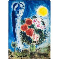 Marc Chagall Russian-French Surrealist Gouache