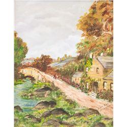 Ann Mae Millan Canadian Oil on Panel Landscape