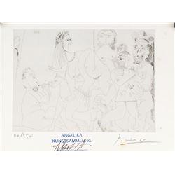 Pablo Picasso Spanish Signed Litho 001/49 01.4.71