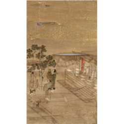 18th Century Chinese Watercolor on Paper Roll