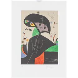 "Joan Miro Spanish Signed Litho on Paper ""E.A."""