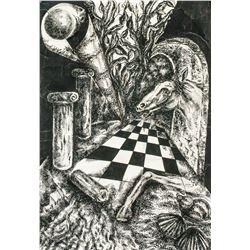 Max Ernst German Surrealist Ink on Paper