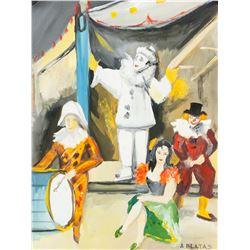Arbit Blatas Lithuanian Impressionist Oil Gouache