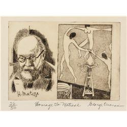 George Cronas Henri Matisse Signed Linocut 26/50