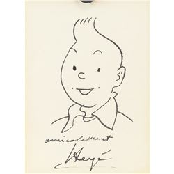 Herge After Belgian Ink on Paper