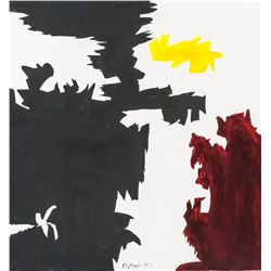 "Clyfford Still American Abstract Oil on Canvas ""19"