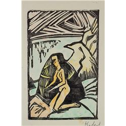 Erich Heckel After German Signed Woodcut No. M6