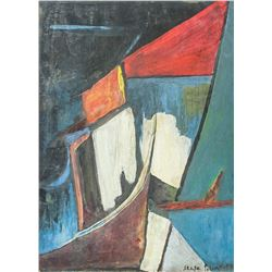 Serge Poliakoff Russian French Abstract Oil Board