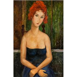 Amedeo Modigliani Italian Oil Canvas Gallery Label