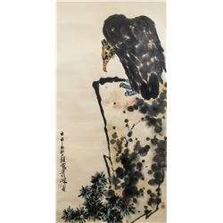 Pan Tianshou 1897-1971 Chinese Watercolor Eagle