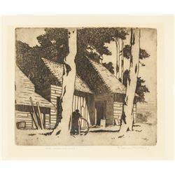 Eric Hesketh Hubbard 1892-1957 US Signed Etching