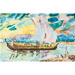 Mikhail Larionov Russian Modernist Watercolor