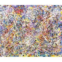 Jackson Pollock American Signed Acrylic Canvas