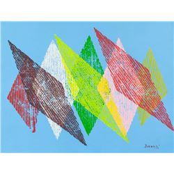 Piero Dorazio Italian Abstract Acrylic on Canvas