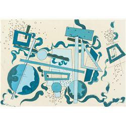 Wassily Kandinsky Russian Acrylic on Canvas Board