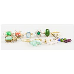 Assorted Brooches, Rings and Earrings