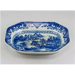 Chinese Blue and White Porcelain Octagonal Bowl