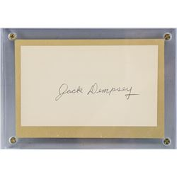 Jack Dempsey Autographed Cut Card with COA