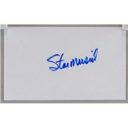Stan Musial Auto Index Card JSA Certified