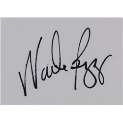 Wade Boggs Autographed Index Card JSA