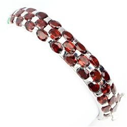 Natural Mozambique Garnet Green Emerald Bangle