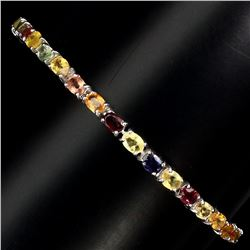 Natural Fancy Color Sapphire Bracelet