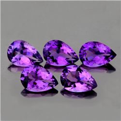 Natural Purple Pear Amethyst 10 x 7  mm - VVS