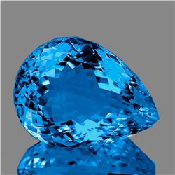 Natural Magnificent AAA Swiss Blue Topaz 25x19 MM - FL