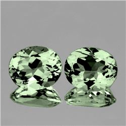 Natural Green Amethyst Pair 11x9 MM - FL